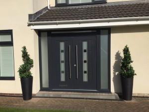 Vermont Grey shades Rockdoor Double Doors